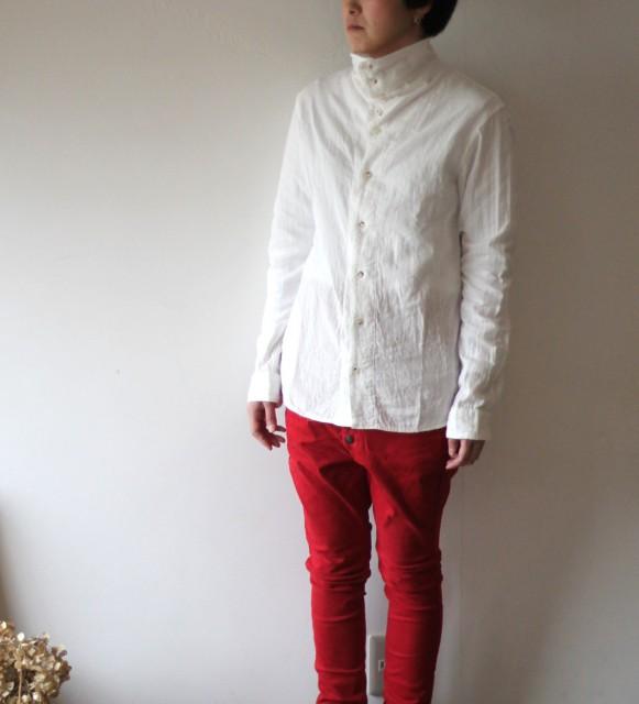 KAPITAL【キャピタル】二重ガーゼハイチンシャツ