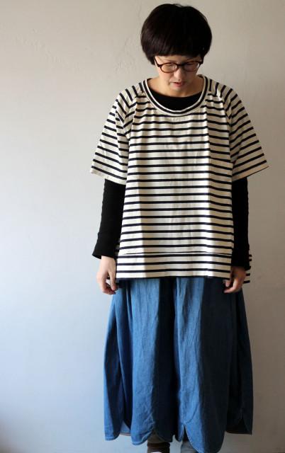 KAPITAL【キャピタル】ボーダー天竺 BIG T