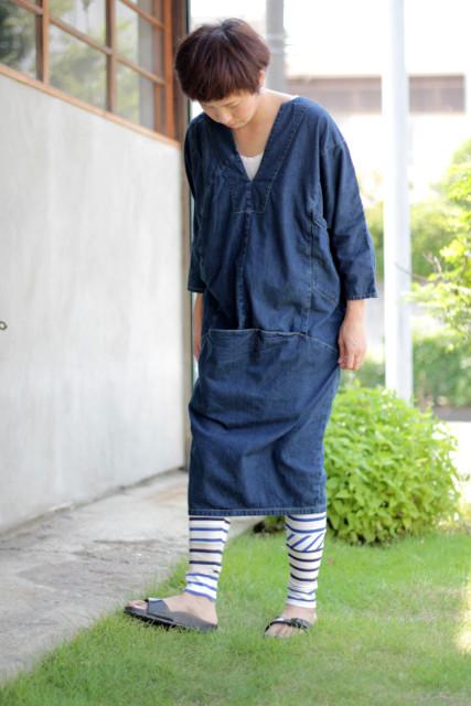 KAPITAL【キャピタル】シャツデニム ギミックアートワンピース