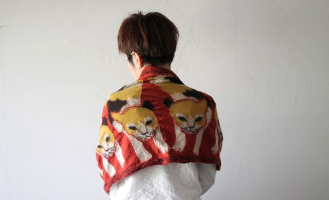 KAPITAL【キャピタル】 縮絨ウールマフラー ジャパンMIKE