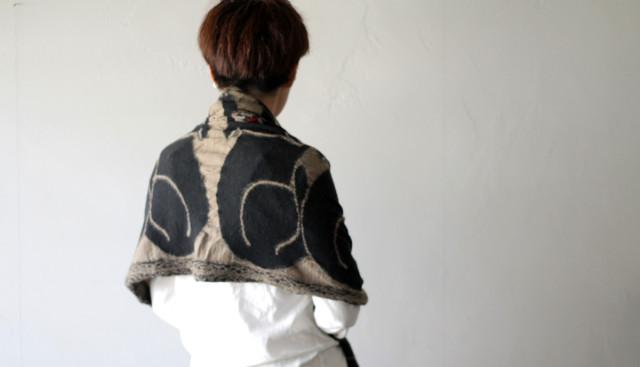 KAPITAL【キャピタル】 縮絨ウールマフラー バグダッドCAT