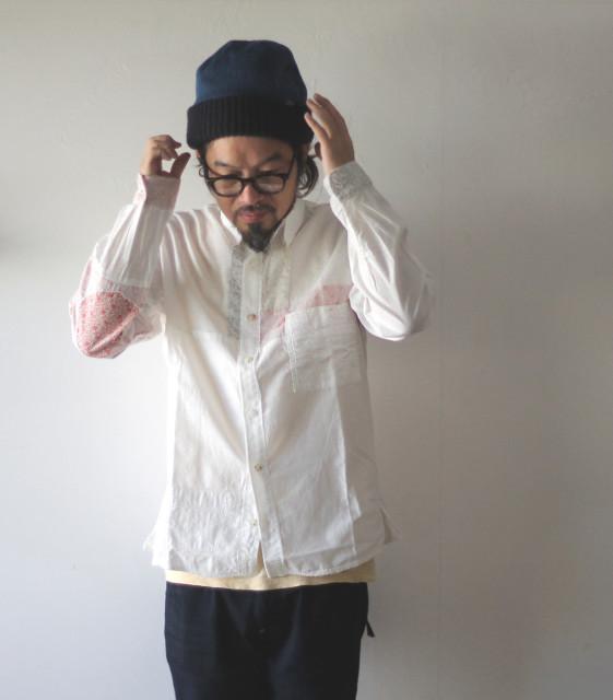 KAPITAL【キャピタル】ホワイトOX ハーベストリメイク カトマンズシャツ(長袖)