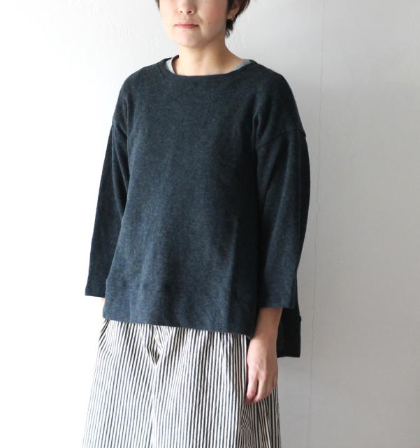 KAPITAL【キャピタル】ラムウール天竺ベルジスリーブベルTシャツ(七分袖)