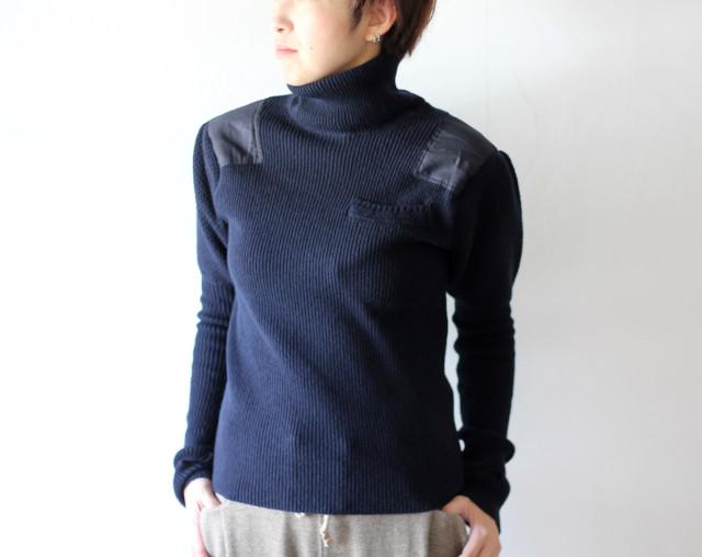 KAPITAL【キャピタル】8Gミラノラム ハイネックアーミーパフスリーブセーター