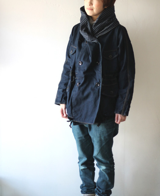 KAPITAL【キャピタル】10ozIDG×IDGデニム リングコート