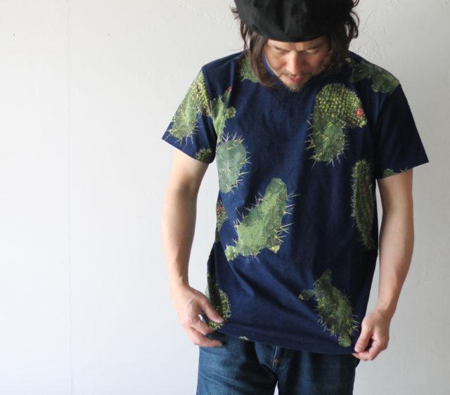 KAPITAL【キャピタル】IDG天竺 多肉植物抜染pt クルーT082