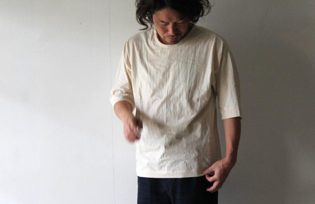HiHiHi【ひひひ】五分袖ポケットTシャツ442