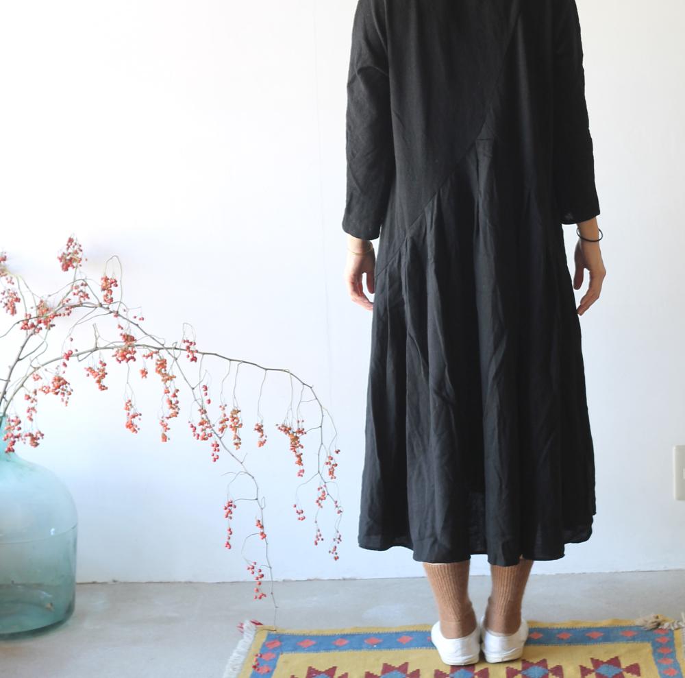 KAPITAL【キャピタル】ラムウール天竺 オーロラワンピース(七分袖)060