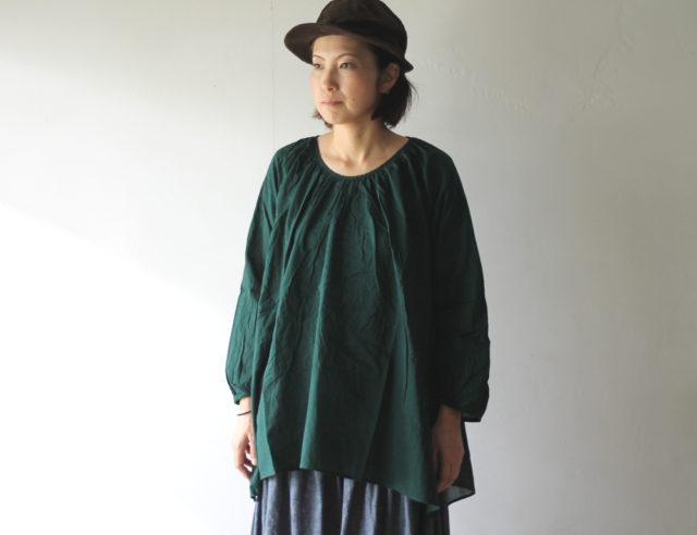 KAPITAL【キャピタル】一重ガーゼブッファンギャザーシャツ214