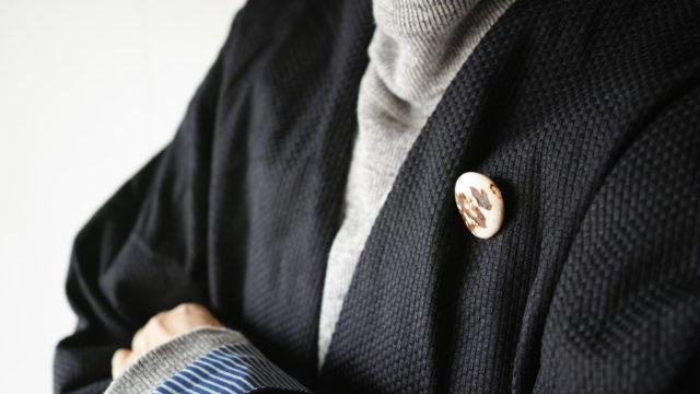 HiHiHi【ひひひ】羽織 インディゴ刺子119
