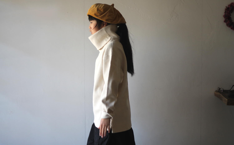 KAPITAL【キャピタル】ヘビーワッフル ハイネックスウェット キナリ055