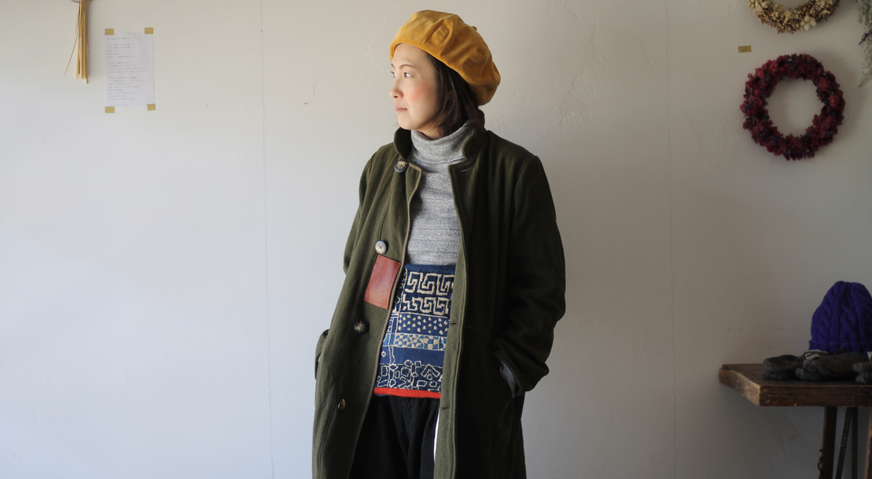 KAPITAL【キャピタル】ヴィンテージメルトン マーブルコート075